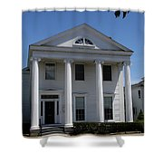 Greek Revival House - New London Ct Shower Curtain