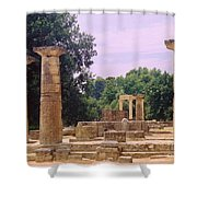 Greek Ruins At Olympia Shower Curtain