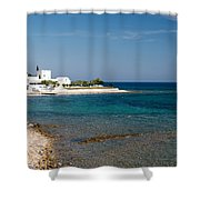 Villa By The Sea Shower Curtain