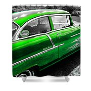 Green 1957 Chevy Shower Curtain