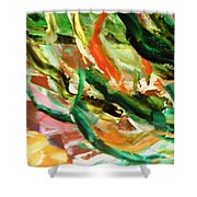 Green 5  Shower Curtain