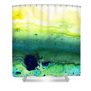 Green Abstract Art - Life Song - By Sharon Cummings Shower Curtain
