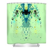 Green Alien Shower Curtain