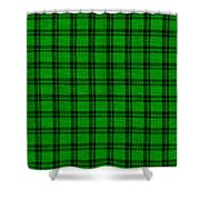 Green And Black  Plaid Cloth Background Shower Curtain