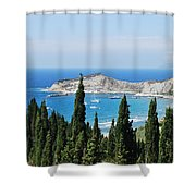 Green And Blue 1 Shower Curtain