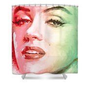 Green And Red Beauty Shower Curtain