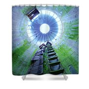 Green And Rustic Shower Curtain
