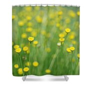 Green And Yellow Vintage Shower Curtain