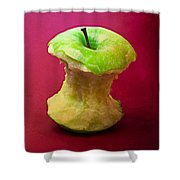 Green Apple Core 1 Shower Curtain