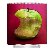 Green Apple Nibbled 8 Shower Curtain
