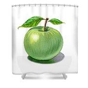 Green Apple Still Life Shower Curtain