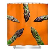 Green Asparagus - Fresh Food Photography Shower Curtain