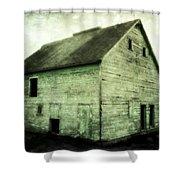 Green Barn Shower Curtain by Julie Hamilton