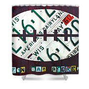 Green Bay Packers Football License Plate Art Shower Curtain