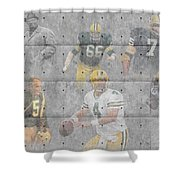 Green Bay Packers Legends Shower Curtain