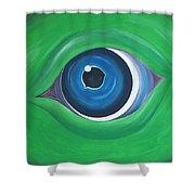 Green Beast Shower Curtain by Sven Fischer