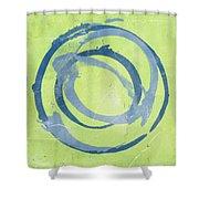 Green Blue Shower Curtain