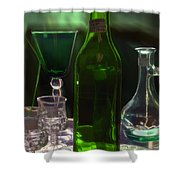 Green Bottle Shower Curtain