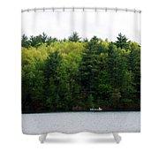 Canoe On Walden Pond Shower Curtain