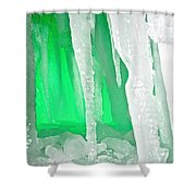 Green Cave Shower Curtain