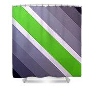 Green Chevron Shower Curtain