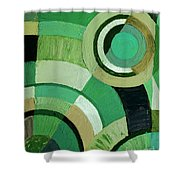 Green Circle Abstract Shower Curtain