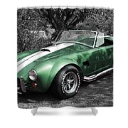 Green Cobra Shower Curtain