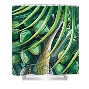 Green Coconuts  2  Shower Curtain