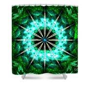 Green Compass Shower Curtain