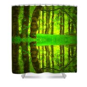 Green Day Dreams Shower Curtain