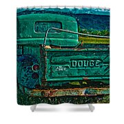Green Dodge Shower Curtain