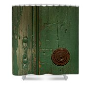 Green Door   #4377 Shower Curtain