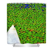 Green Dream Shower Curtain