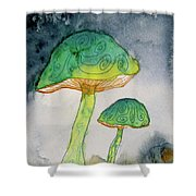 Green Dreams Shower Curtain