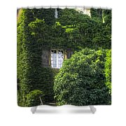 Green Entrance Shower Curtain