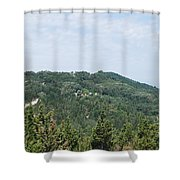 Green Erikousa 1 Shower Curtain