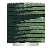 Green Facade Shower Curtain
