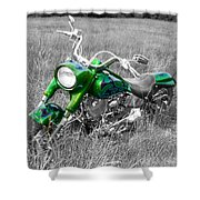 Green Fat Boy Shower Curtain
