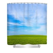 Green Field Landscape Shower Curtain