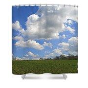 Green Fields Shower Curtain