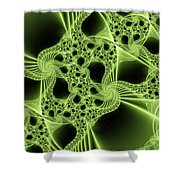 Green Filigree Shower Curtain