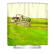 the sea is green but I still wanna go fishing  Shower Curtain