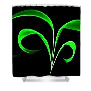 Green Flaring Plant Shower Curtain