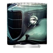 Green Ford Shower Curtain