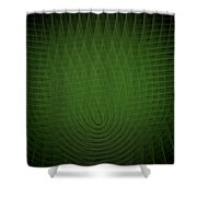 Green Fractal Background Shower Curtain