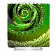 Green Fronds Shower Curtain