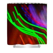 Green Fusion Traveler In The Cosmos Shower Curtain