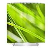 Green Grass Abstract Shower Curtain