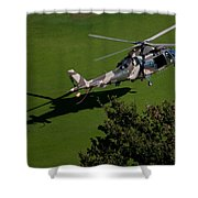 Green Grass Landing  Shower Curtain