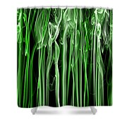 Green Grass Smoke Photography Shower Curtain